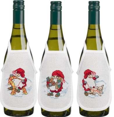 Elves Wine Bottle Aprons - click for larger image