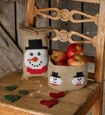 Snowman Basket - click for larger image