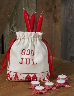 Christmas Draw String Bag - click for larger image