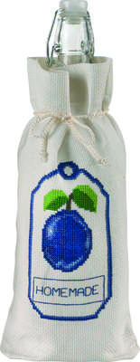 Plum Homemade Bottle Bag - click for larger image