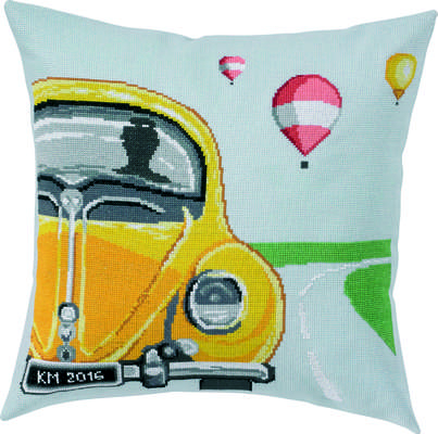 Yellow Beetle Cushion Cover - click for larger image