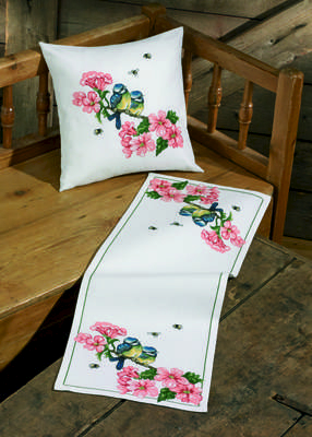 Bluetits Cushion - click for larger image