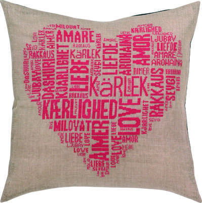 Love Pink Cushion  - click for larger image
