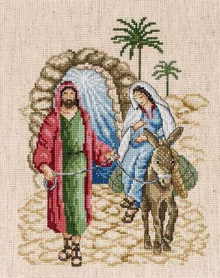 Mary and Joseph - Journey to Bethlehem - click for larger image