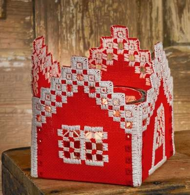 Red House Tea Light Holder - click for larger image