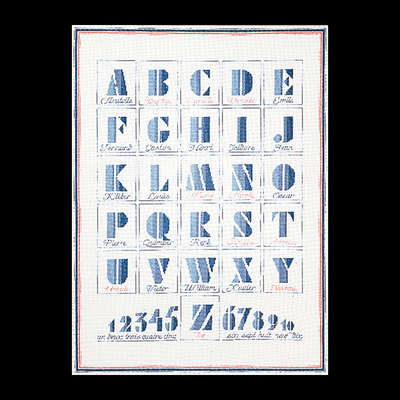 Art Deco Alphabet Sampler