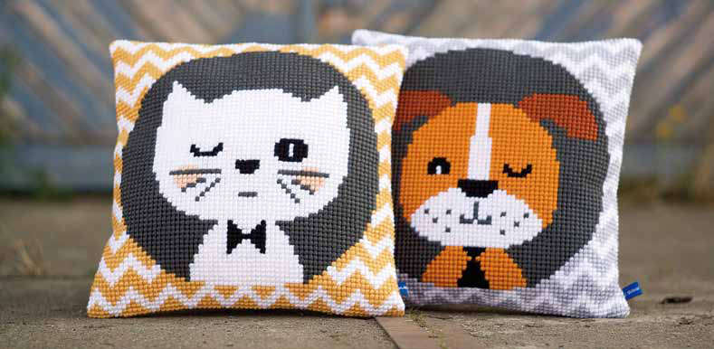 Winking Cat Cushion Cover Kit