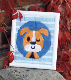 Winking Dog Long Stitch Kit