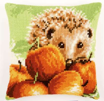 Hedgehog Cross Stitch Cushion