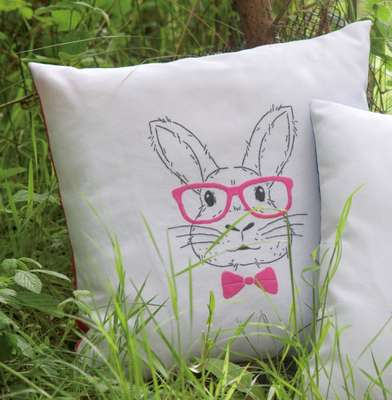 Rabbit with Pink Glasses