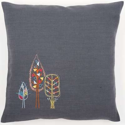 Stylised Flowers Cushion II