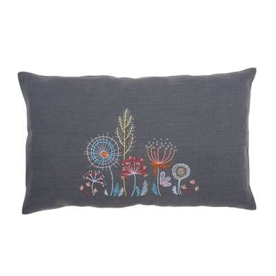 Stylised Flowers Cushion IV