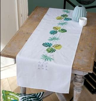 Leaves and Triangles Table Runner