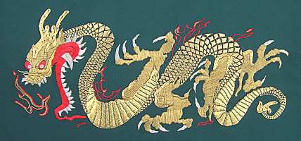 Golden Dragon Embroidery - goldwork