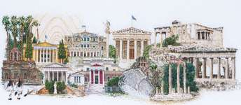 Athens, cross-stitch kit by Thea Gouverneur