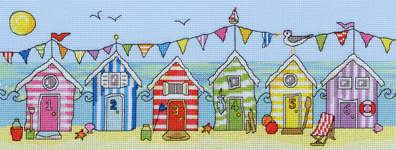 Beach Hut Fun, Cross Stitch Kit by Bothy threads