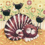 Birds of a Feather, cross stitch kit by Karen Carter