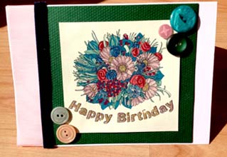 Birthday Bouquet, Digital Stamp by Julie Lynes