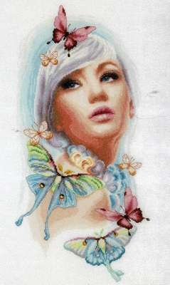 Butterfly Dreams - cross stitch kit by Lanarte
