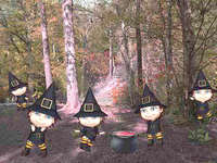 Five Little Witches, Digital Download by DawnsDesigns