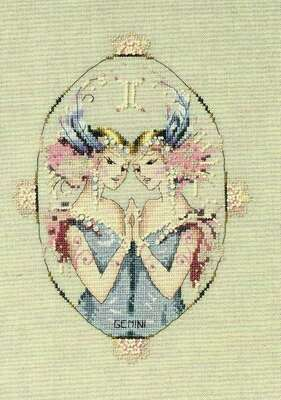 Gemini a cross stitch pattern by Nora Corbett