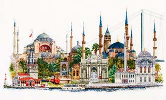 Istanbul, cross stitch kit by Thea Gouverneur