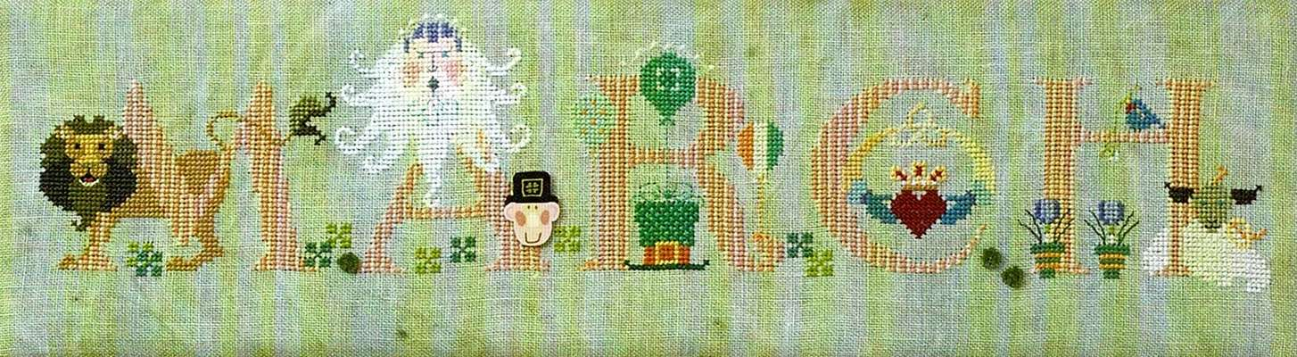 March, cross stitch design by the Cross Eyed Cricket