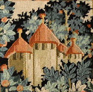 Medieval Castle, Tapestry/Needlepoint Kit by Glorafilia
