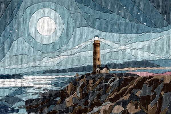 Moonlit Lighthouse - long-stitch kit by Julie Lynes, Arts and Designs