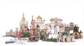 Moscow, a cross stitch kit by Thea Gouverneur