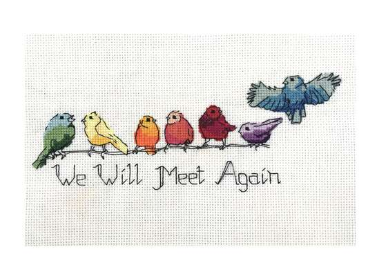 Rainbow Birds, cross stitch pattern by Julie Lynes, Arts and Designs