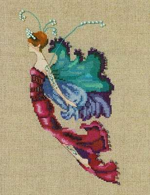 Red Cabbage Sprite cross stitch design by Nora Corbett