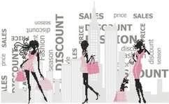Shopping - cross-stitch kit by Marie Coeur