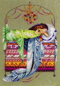 Sleeping Princess, Cross-Stitch Pattern by Nora Corbett