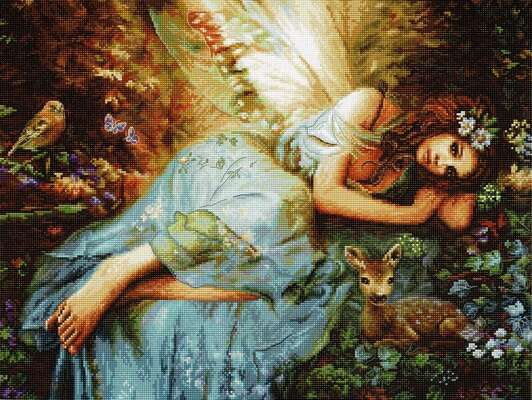 Spring Fairy, cross stitch kit by LetiStitch