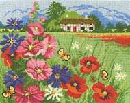 Summer Meadow - cross stitch kit by DMC Creative
