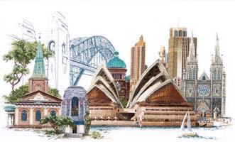 Sydney, cross stitch kit by Thea Gouverneur