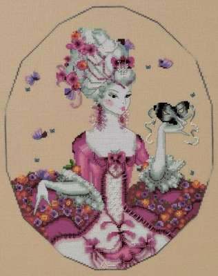 The Duchess of Rouen, cross stitch pattern by Mirabilia