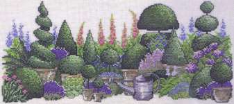 The Green Garden - cross-stitch kit by Permin of Copenhagen