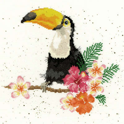 Toucan of my Affection, cross stitch kit by Hannah Dale/Bothy Threads