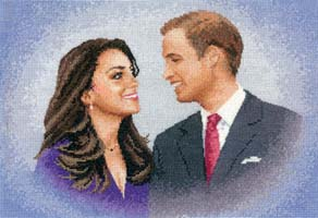 William and Catherine, cross stitch kit by John Clayton