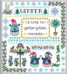 Winter Peace, Cross stitch pattern by Designs By Cathy